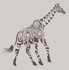 giraffe ornament royalty free cliparts vectors and stock