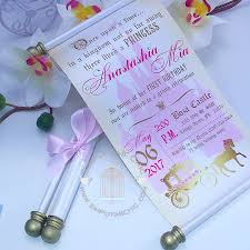 royal prince princess scroll invitation birthday wedding