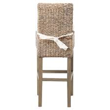 sisson coastal beach woven banana leaf wood counter stool kathy