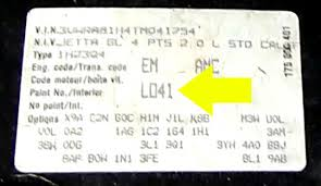 volkswagen paint code location image details