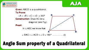 angle sum property of a quadrilateral youtube