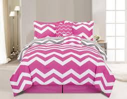 Pink And Grey Comforter Set 6 Piece Chevron Pink Comforter Set