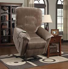 Lift Chair Recliner Medicare Brown Sugar Textured Velvet Fabric Power Lift Recliner Chair