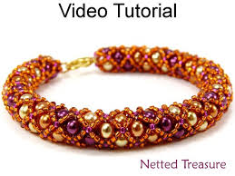 tutorial necklace making images Video tutorial necklace bracelet beaded jewelry making pattern etsy jpg