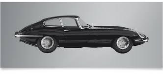 jaguar classic e type jaguar classic car print ella freire limited edition