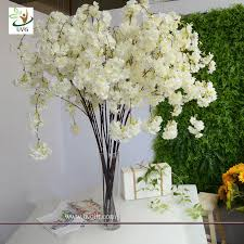 artificial flowers for home decoration uvg chr129 white cherry blossom branches faux silk flowers for