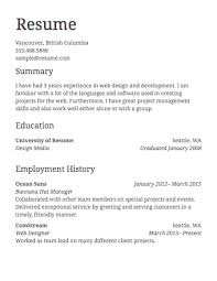 Different Resume Templates Work Resume Format 1 Get Started Uxhandy Com