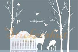 Cheap Wall Decals For Nursery Nursery Tree Deer Wall Decal Auall375 73 00 Wall Stickers