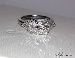 Square Wedding Rings by Custom Engagement Rings With Square Center Diamonds Adiamor