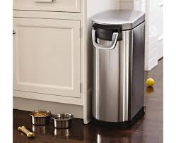 simplehuman x large pet food bin fingerprint proof brushed