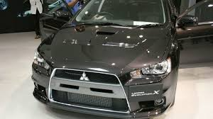 2007 mitsubishi lancer evolution x mitsubishi lancer evo x bows in japan