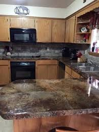 Kitchen Countertop Designs Concrete Countertop Stamping And Staining Options Beautiful And