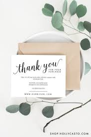business thank you cards printable business thank you packaging cards by hollycastodesign