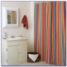 Multi Color Shower Curtains Striped Shower Curtain Multi Colored Curtain Home Decorating