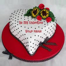 write name on be my valentine love cake online
