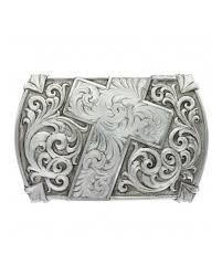 montana silversmiths cross with scroll buckle fort brands