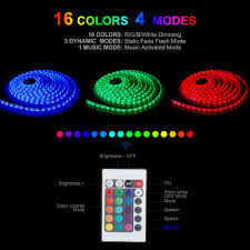 cheap led light strips led light strip ip65 waterproof led strip light 16 4ft music
