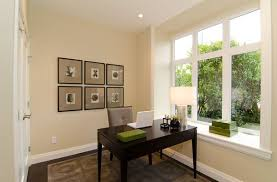 office in home furniture compact home office space with glass wall and wall shelves