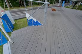 china stone grey color outdoor use anti slip composite decking wpc