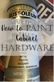 spray paint for kitchen cabinet doors our hopeful home how to spray paint cabinet hardware like a pro