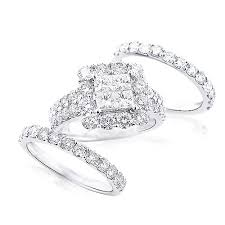 trio wedding sets wedding ring sets 14k gold diamond ring set 4 63ct