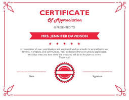 Certification Letter Of Accomplishment 8 Free Printable Certificates Of Appreciation Templates