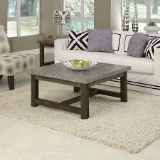 square gray wood coffee table coffee accent tables square coffee table with marble top and