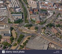 an aerial view of wolverhampton ring road in the west midlands
