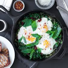 egg clouds baked eggs with ricotta greens u0026 sun dried tomatoes baking the