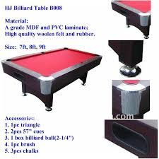 Red Felt Pool Table Billiard Table 7ft Pool Table With Nice Table Cloth Red Pool Table