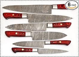 Damascus Steel Kitchen Knives Amazon Com 06 Pc U0027s Custom Damascus Steel Kitchen Knife Set 1071