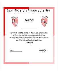 certificate of appreciation template template free download