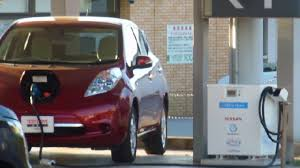 nissan leaf charging points electric car charging stations in japan youtube