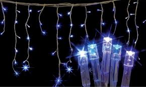 cool white icicle lights led christmas fairy lights groupon