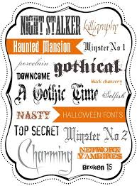 halloween letter fonts best template collection