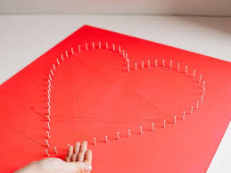 modern string art heart hgtv
