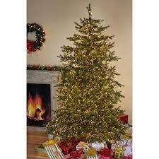 christmas tree prelit 7 5 micro led pre lit cut monaco pine christmas tree