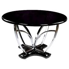 chrome round dining table iohomes high glossed fountain chrome pedestal round dining table