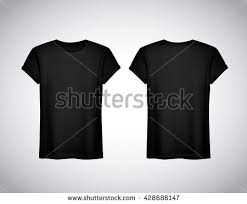 men black tshirt realistic mockup short stock vector 555353476