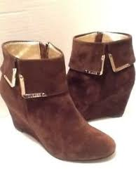 s suede ankle boots size 9 elaine turner s brown suede wedge ankle boots size 9 ebay