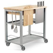 chariot cuisine chariot de service en acier en bois pour cuisine