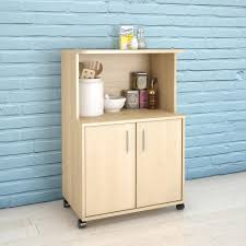 kitchen cart with cabinet natural maple kitchen cart with storage cabinet 599 the home depot