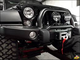 aev jeep interior installing an aev bumper with trailfx winch and ipf flood