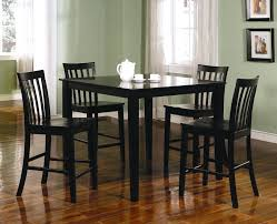 pub height table and chairs black counter height table set 5 piece dining pub cvid