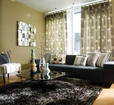 Black And Brown Home Decor Black Leather Sofa With Cushions Plus Glass Tale With Black Fur
