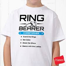 ring security wedding personalized ring bearer t shirts ring security youth t shirt