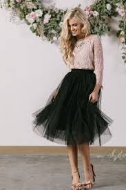 eloise black tulle midi skirt morning lavender