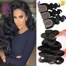 sew in with lace closure sew in hair extensions wave bundle ebay
