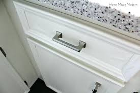 satin nickel white kitchen love everything about this brushed nickel kitchen cabinet hardware i love homes kitchen brushed