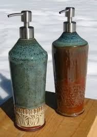 Soap Dispensers For Kitchen Sinks by Orange And Blue Ceramic Soap Dispenser Handmade By Botanic2ceramic